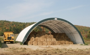 ClearSpan Fabric Structure Hay Storage