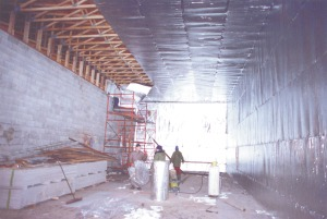 Storage building insulated with TekFoil