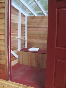 Polycarbonate in Outhouse