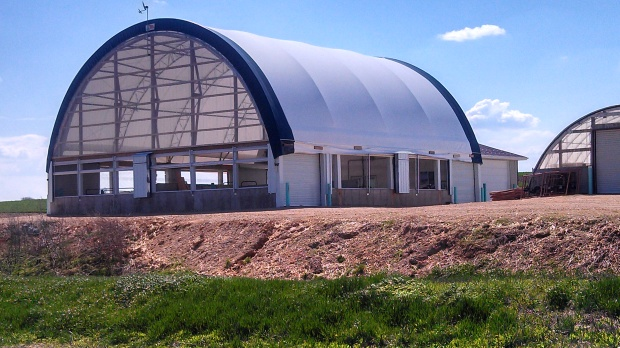 Fabric structure for calf housing