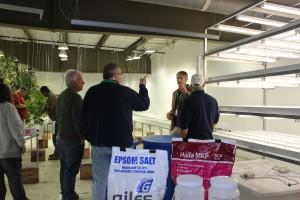 CEA School Tour Growing Rooms