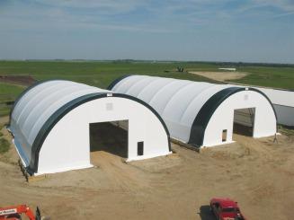 Hay storage at Gary Knutson Farm