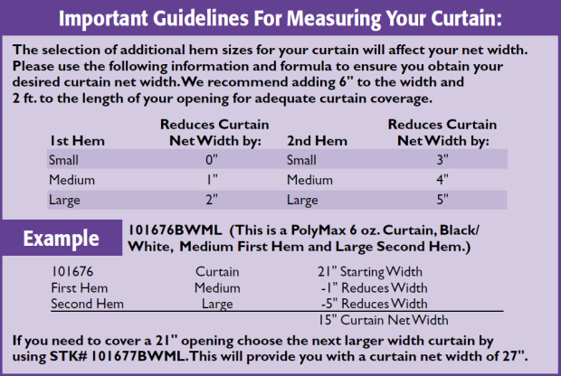 Important guidelines for measuring your curtain
