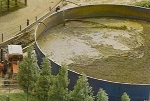 Slurry manure tank